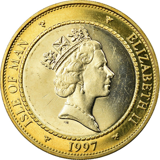 Monnaie, Isle of Man, Elizabeth II, 2 Pounds, 1997, SPL, Bi-Metallic, KM:844