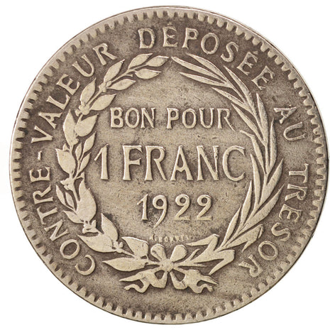 Martinique, Franc, 1922, TB+, Copper-nickel, KM:41, Lecompte:13