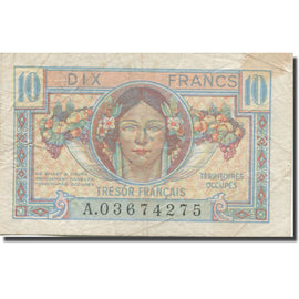 France, 10 Francs, 1947 French Treasury, 1947, 1947, TB+, Fayette:VF30.1, KM:M7a
