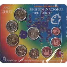 Spain, Euro Set of 9 coins, 2010