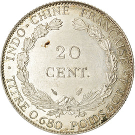 Monnaie, FRENCH INDO-CHINA, 20 Cents, 1937, Paris, SUP, Argent, KM:17.2