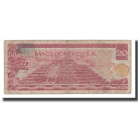 Billet, Mexique, 20 Pesos, 1976, 1976-07-08, KM:64c, B