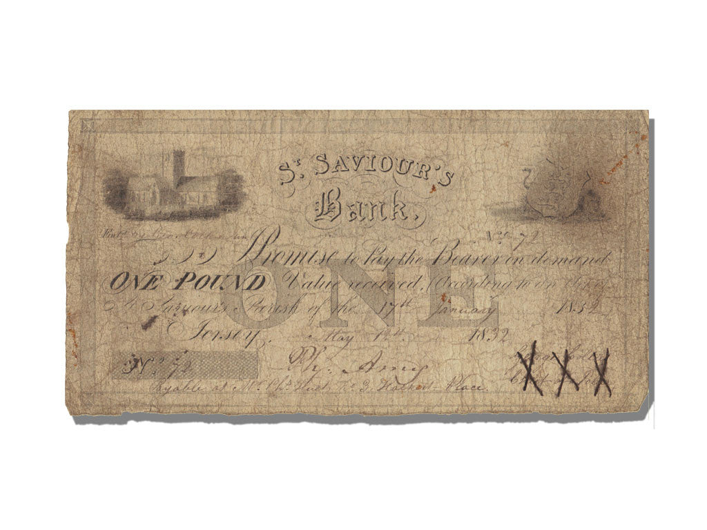 1 Pound Type St Saviour's Bank