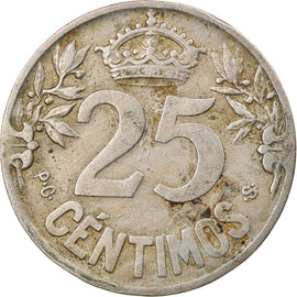 Monnaie, Espagne, Alfonso XIII, 25 Centimos, 1925, Madrid, TTB, Copper-nickel