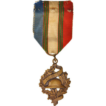 France, Union Nationale des Combattants, Medal, Très bon état, Bronze, 25
