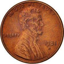 États-Unis, Lincoln Cent, 1981, Denver, KM:201