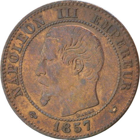 Second Empire, 2 Centimes Napoléon III tête nue 1857 W, KM 776.7