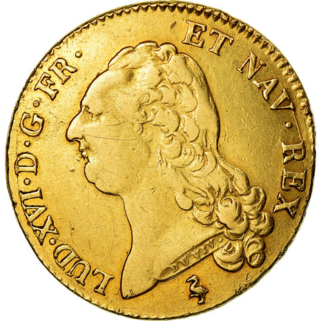 Monnaie, France, Louis XVI, Double louis d'or à la tête nue, 1786, Paris