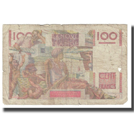 France, 100 Francs, Jeune Paysan, 1946, P. Rousseau and R. Favre-Gilly
