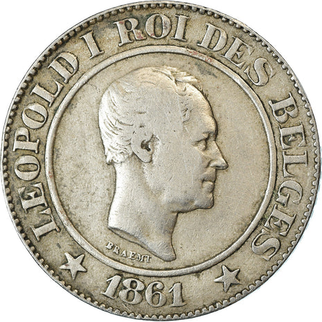 Monnaie, Belgique, Leopold I, 20 Centimes, 1861, TB+, Copper-nickel, KM:20