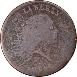 Monnaie, États-Unis, Flowing Hair Cent, Cent, 1793, U.S. Mint, Periods, B