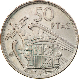 Monnaie, Espagne, Caudillo and regent, 50 Pesetas, 1959, SUP, Copper-nickel