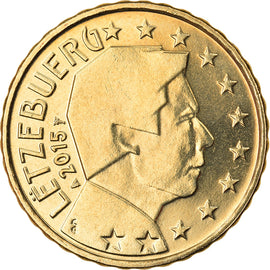 Luxembourg, 10 Euro Cent, 2015, SPL, Laiton, KM:New