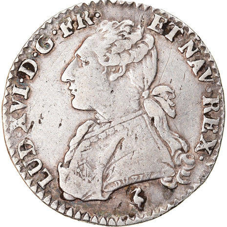 Monnaie, France, Louis XVI, 1/10 Écu, 12 Sols, 1/10 ECU, 1778, Paris, TB+