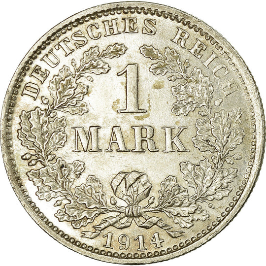 Monnaie, GERMANY - EMPIRE, Wilhelm II, Mark, 1914, Munich, SPL, Argent, KM:14