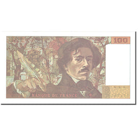 France, 100 Francs, Delacroix, 1993, Undated (1993), SUP, Fayette:69bis.7