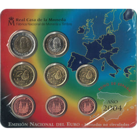 Spain, Euro Set of 8 coins, 2004