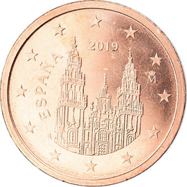 Espagne, 2 Euro Cent, 2019, TTB+, Copper Plated Steel, KM:New