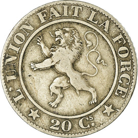 Monnaie, Belgique, Leopold I, 20 Centimes, 1860, TB, Copper-nickel, KM:20