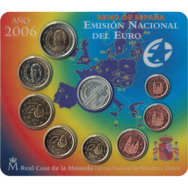Spain, Euro Set of 8 coins + 1 token, 2006