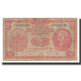 Billet, Netherlands Indies, 50 Cents, 1949, 1949-12-02, KM:110a, TB