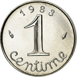 Monnaie, France, Épi, Centime, 1983, Paris, FDC, Stainless Steel, Gadoury:91