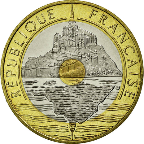 Monnaie, France, Mont Saint Michel, 20 Francs, 1996, FDC, Tri-Metallic