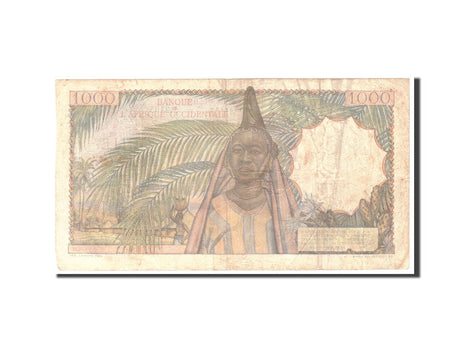 French West Africa, 1000 Francs, 1951, KM:42, 1951-10-02, TTB
