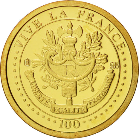 France, Medal, Marie Curie, Sciences & Technologies, 2004, Or