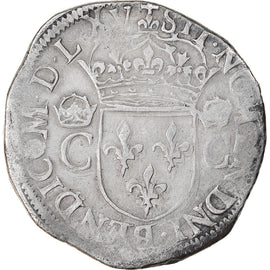 Monnaie, France, Charles IX, Teston, 1565, Angers, TB+, Argent, Sombart:4602