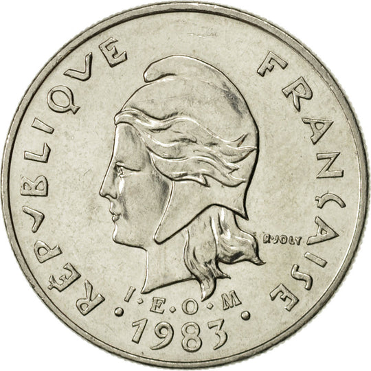 French Polynesia, 10 Francs, 1983, Paris, SUP, Nickel, KM:8