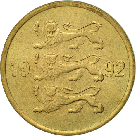 Estonia, 10 Senti, 1992, no mint, SUP, Aluminum-Bronze, KM:22