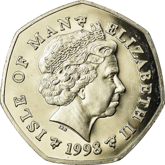 Monnaie, Isle of Man, Elizabeth II, 50 Pence, 1998, SPL, Copper-nickel, KM:908