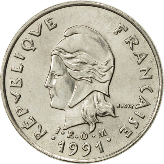 French Polynesia, 10 Francs, 1991, Paris, SUP+, Nickel, KM:8