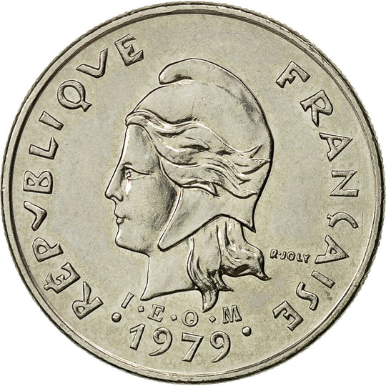 French Polynesia, 10 Francs, 1979, Paris, SUP, Nickel, KM:8