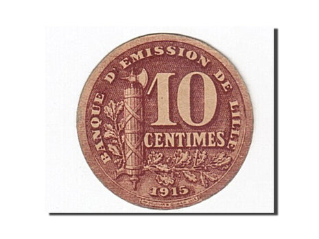 France, Lille, 10 Centimes, 1915, SUP, Pirot:59-3059