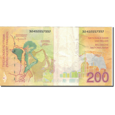 Billet, Belgique, 200 Francs, 1995, Undated 1995, KM:148, TTB