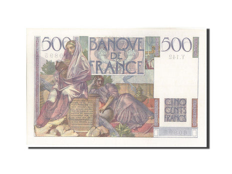 France, 500 Francs, 500 F 1945-1953 ''Chateaubriand'', 1953, 1953-06-04, KM:1...