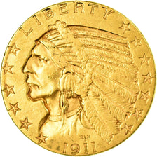 Monnaie, États-Unis, Indian Head, $5, Half Eagle, 1911, U.S. Mint
