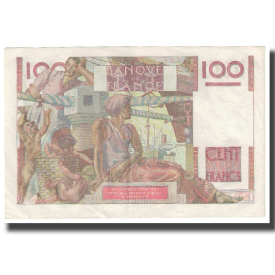 France, 100 Francs, 1951, 1951-11-02, SPL, KM:128d