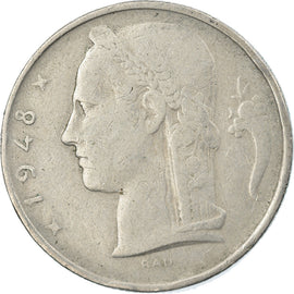 Monnaie, Belgique, 5 Francs, 5 Frank, 1948, TTB, Copper-nickel, KM:135.1