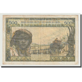 Billet, West African States, 500 Francs, Undated (1959-65), KM:702Km, TB