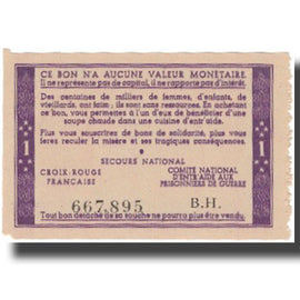 France, Secours National, 1 Franc, Undated, NEUF