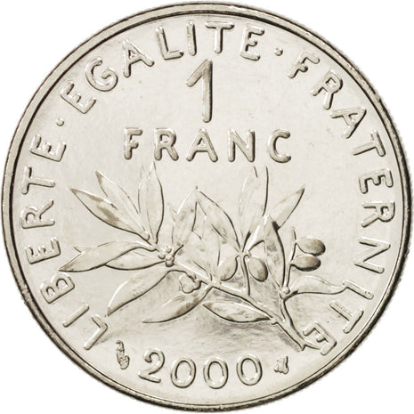 France, Semeuse, Franc, 2000, Paris, SPL, Nickel, KM:925.2, Gadoury:474