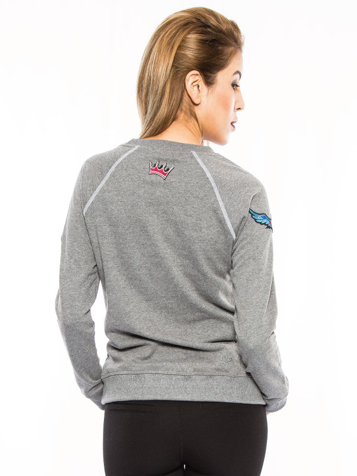 #FASHIONCOCKTAIL - SWEATSHIRT MIT PATCHES