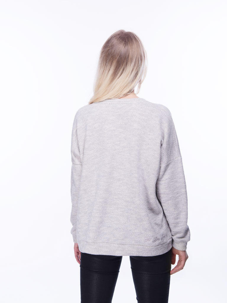 Sweatshirt mit Pailletten-Stickereien