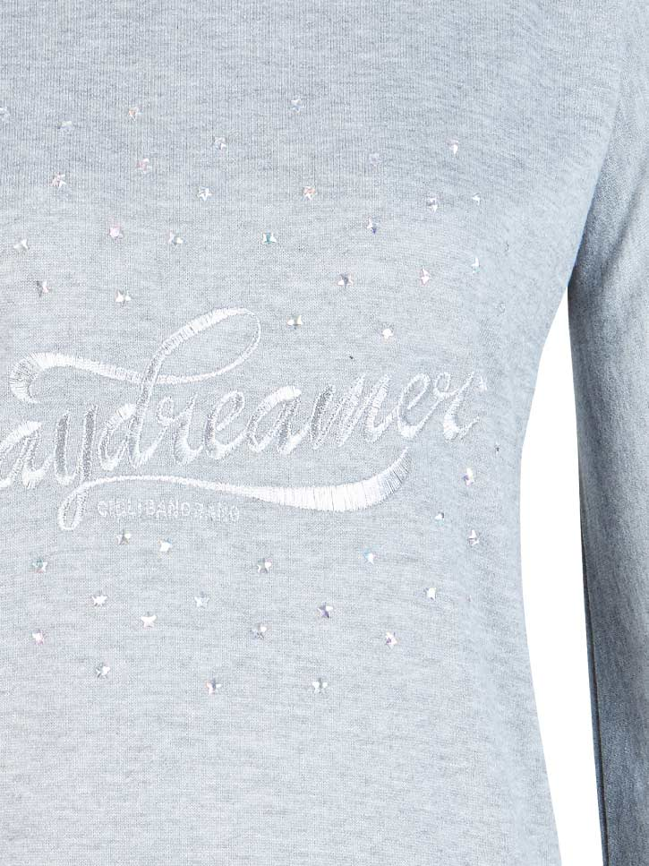 #DAYDREAMER - Glitter Sweatshirt mit Stickerei