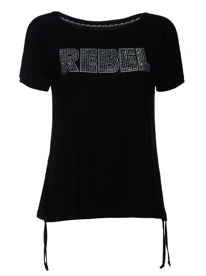 #REBEL - Damen T-Shirt mit Rebel Schrift