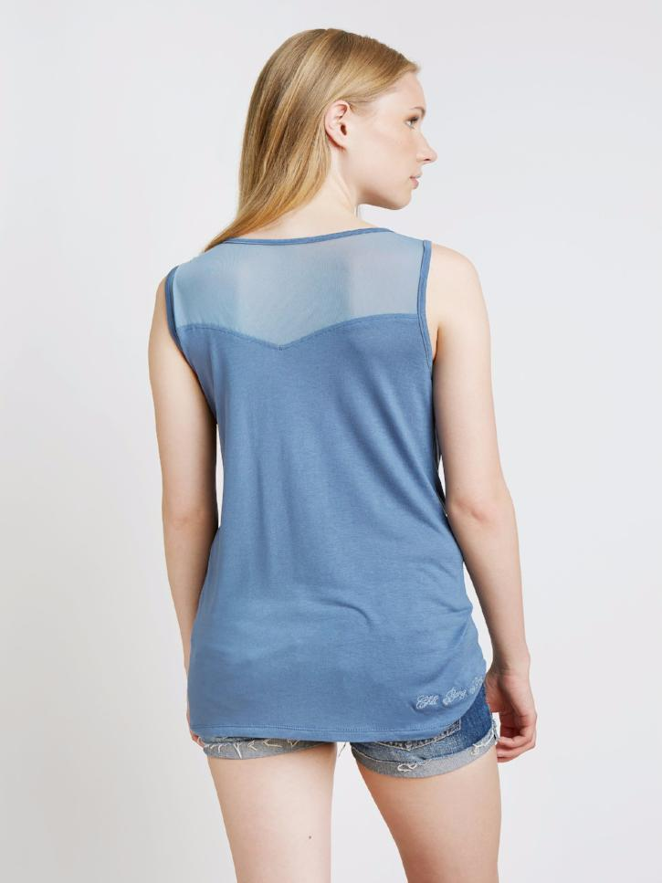 #patchmymoments - Tank Top mit Patches, blau