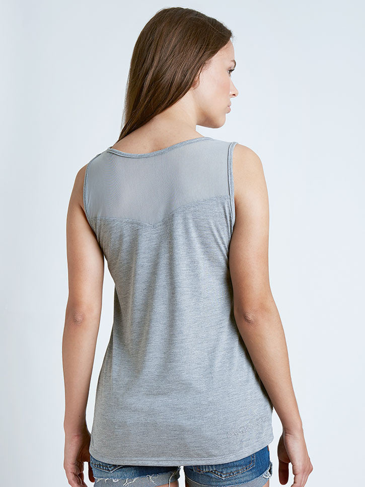 #patchmymoments Tank Top mit Patches, grau